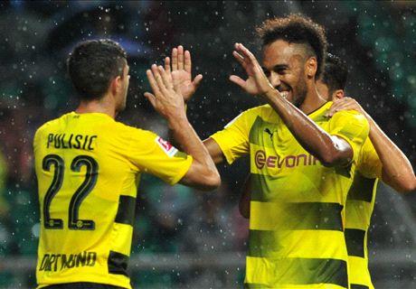 Aubameyang, Pulisic lead Dortmund