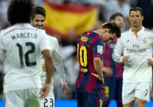 ميسي حزين وسط فرحة لاعبي الريال | ريال مدريد 3-1 | الليجا | ملعب سانتياجو برنابيو