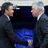 Luis Enrique e Carlo Ancelotti se encontraram no Bernabéu