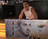 Zlatan Ibrahimovic with his bank note mock up