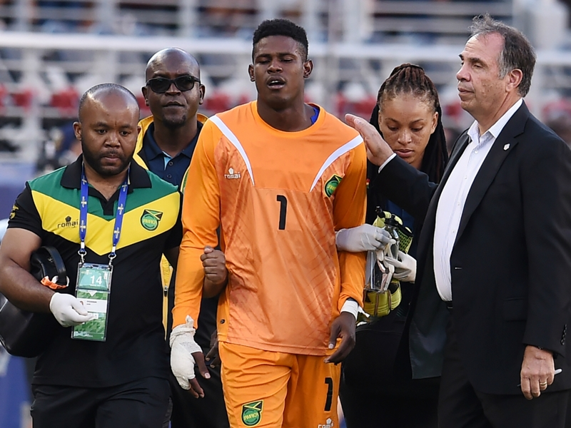 Jamaica's Blake avoids major injury, likely to miss 2-3 weeks with hand laceration