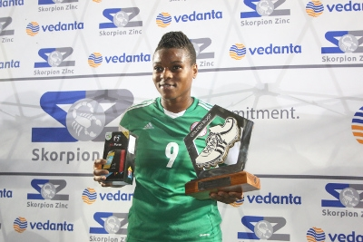 AWC golden boot winner scorer Desire Oparanozie