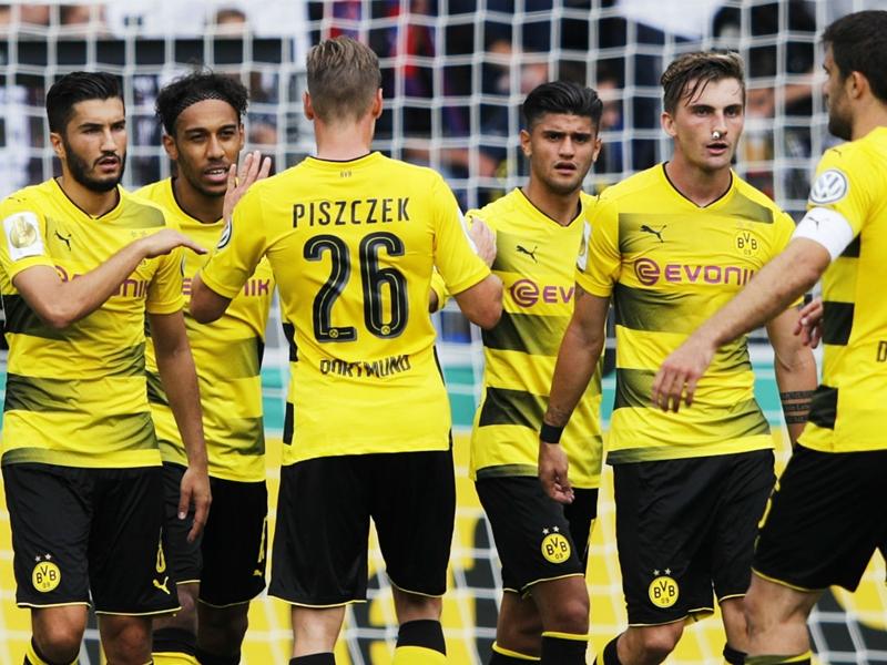 Rielasingen-Arlen 0 Borussia Dortmund 4: Aubameyang hits hat-trick for holders