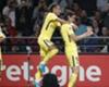 Neymar celebrates with Edinson Cavani