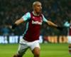 Sofiane Feghouli celebrates a West Ham goal