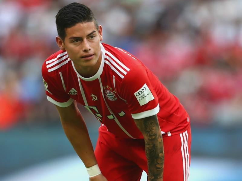 James one of six Bayern stars out of Bundesliga opener