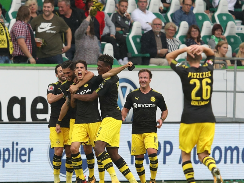 Wolfsburg 0 Borussia Dortmund 3: Pulisic shines as Bosz makes ideal start