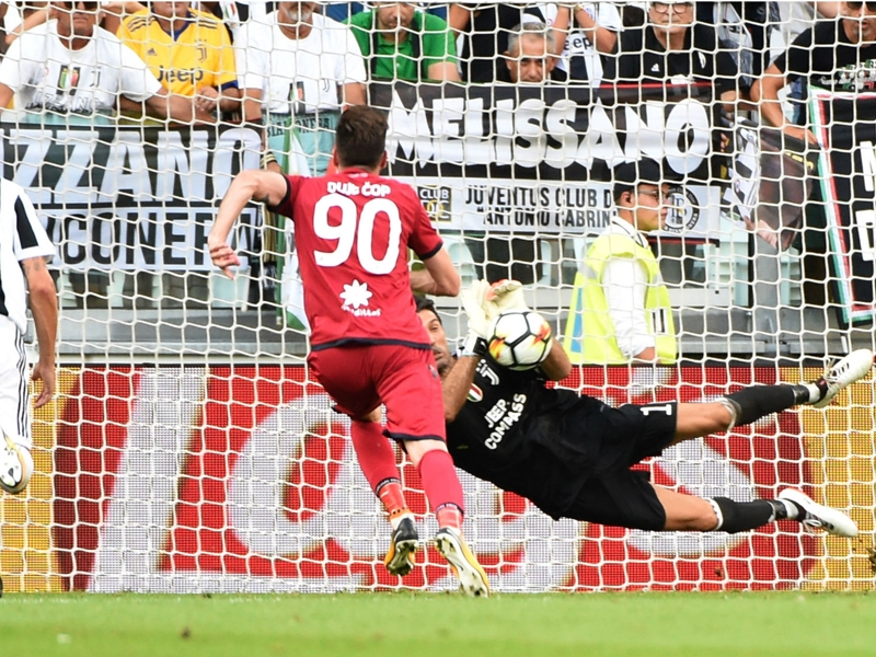 Juventus 3 Cagliari 0: Buffon saves Serie A's first VAR penalty in comfortable win