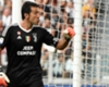 Juventus goalkeeper Gianluigi Buffon celebrates his penalty save.