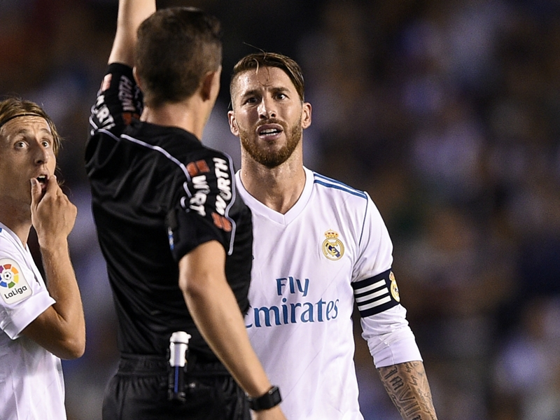 Ramos highlights hostility towards Real Madrid after red card