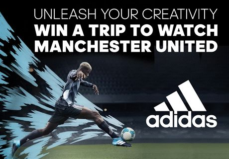 Buy adidas Ocean storm boots and watch Man Utd live