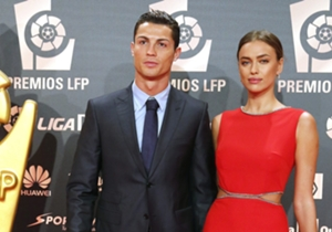 CR7 rocked up with a lady in red, girlfriend Irina Shayk