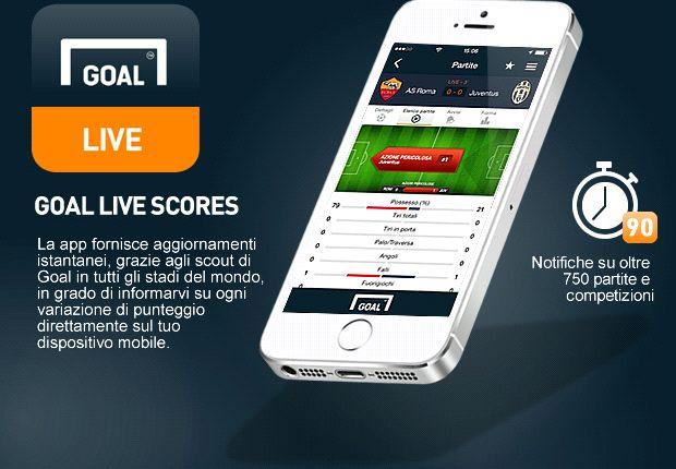 Goal lancia l'app definitiva per i Risultati Live