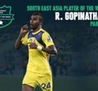 Goal Southeast Asia Player of the Week : รามจันทรา โกปินาธัน
