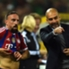 Trainer Pep Guardiola (r.) hier mit Franck Ribery
