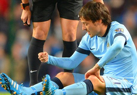 Four weeks out: Silva to miss Manc derby