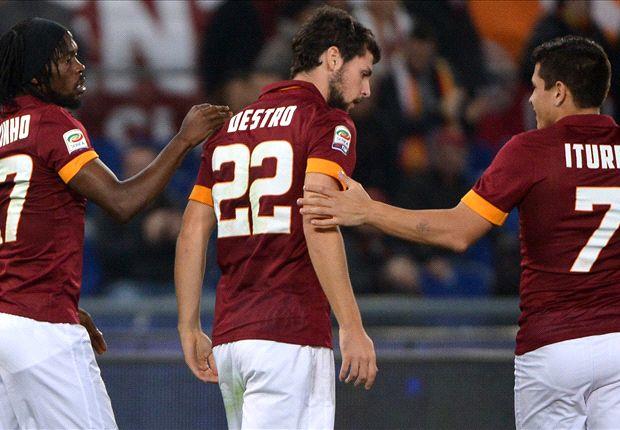 Roma 2-0 Cesena: Destro and De Rossi sink strugglers