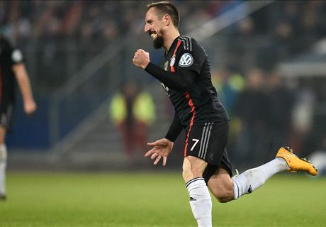 Ribery scores as Bayern progress