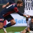 Luca Antonini esulta dopo il goal alla Juventus