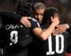 Paris Saint-Germain trio Edinson Cavani, Kylian Mbappe and Neymar