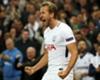 Harry Kane celebrates a goal for Tottenham.