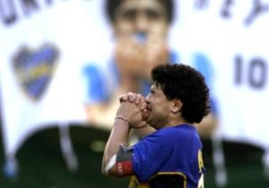 10/11/2001: partido homenaje en La Bombonera con gran cantidad de figuras del fútbol. En su discurso final, una frase eterna: