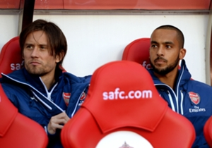 Theo Walcott on the bench for Arsenal