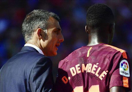 Barca support Dembele after hamstring injury
