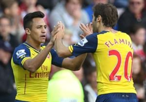 Alexis Sanchez is op dreef voor Arsenal
