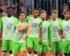 Daniel Divadi celebrates his equaliser against Bayern Munich