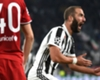Gonzalo Higuain celebrates goal for Juventus against Olympiacos
