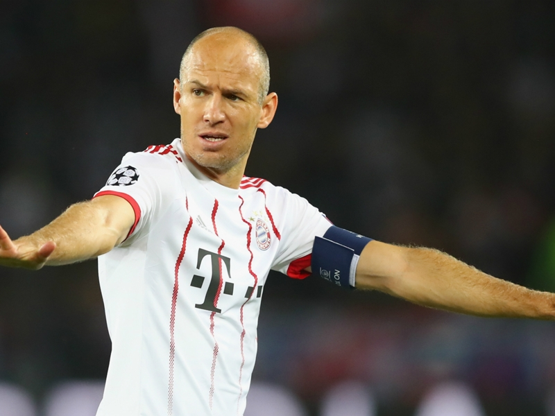 Bayern confirm Robben absence with 'minor' calf strain