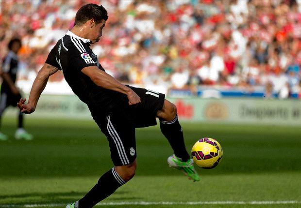Granada 0-4 Real Madrid: James hits wondergoal as Blancos hot-streak continues