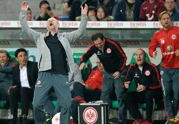 Hatte wieder nichts zu Jubeln: Frankfurt-Trainer Thomas Schaaf