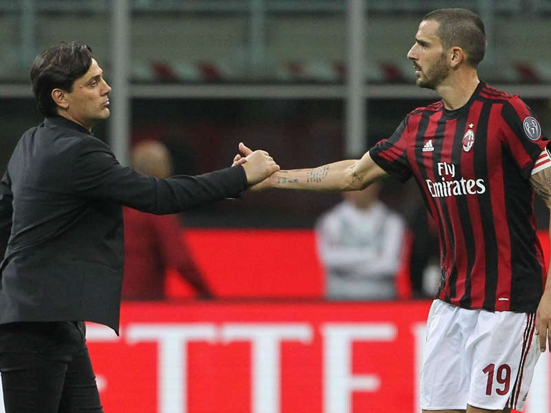 Pirlo: Montella & Bonucci need time to restore glory at Milan