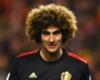 Manchester United midfielder Marouane Fellaini in action for Belgium