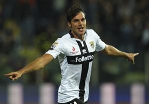 De Ceglie con la maglia del Parma