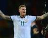 Republic of Ireland midfielder James McClean celebrates victory over Wales