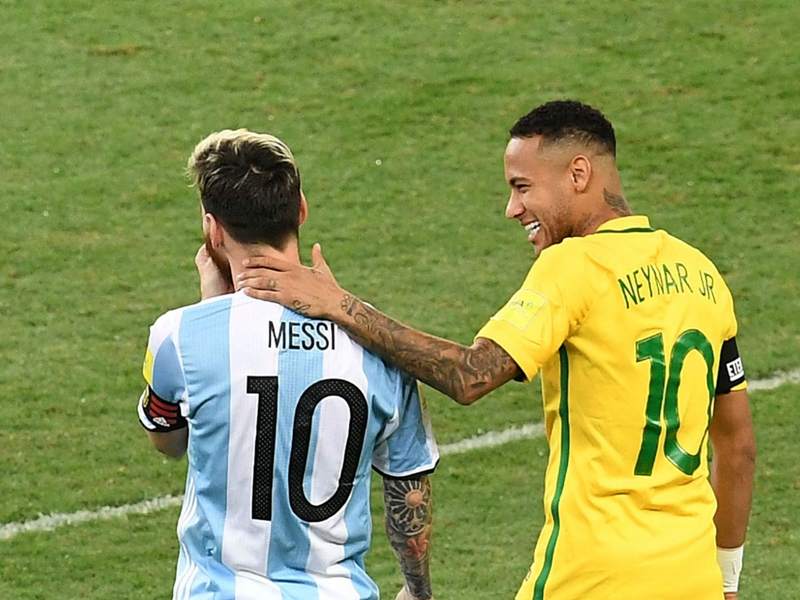 Video: Impossible to compare Messi and Neymar - Brazil stars