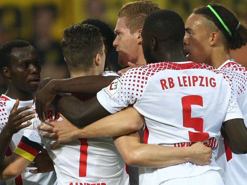 Borussia Dortmund 2 RB Leipzig 3: Two penalties, two reds in five-goal thriller