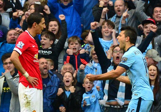 Manchester City 1-0 Manchester United: Sergio Agüero tiñe el derbi de celeste