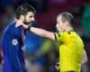 Barcelona defender Gerard Pique is sent off
