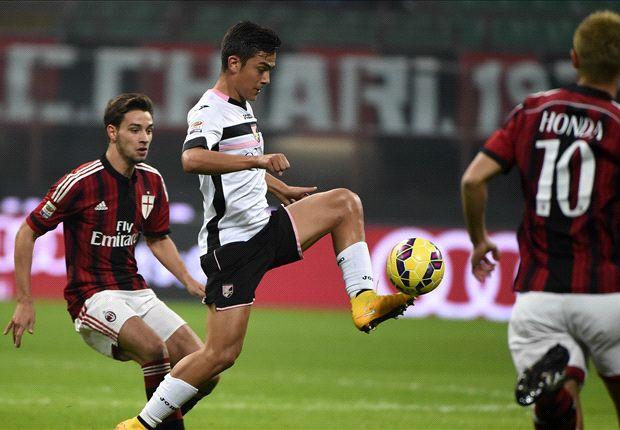 AC Milan 0-2 Palermo: Rosanero end Rossoneri's unbeaten run
