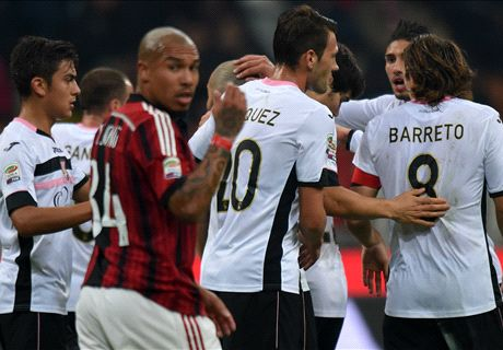 Player Ratings: AC Milan 0-2 Palermo