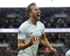 Harry Kane celebrates scoring against Liverpool
