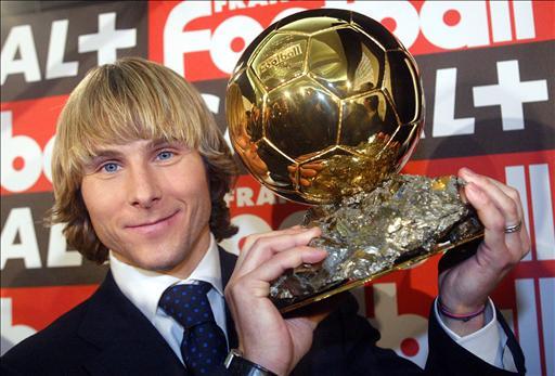 Kết quả hình ảnh cho ballon dor Pavel Nedvěd