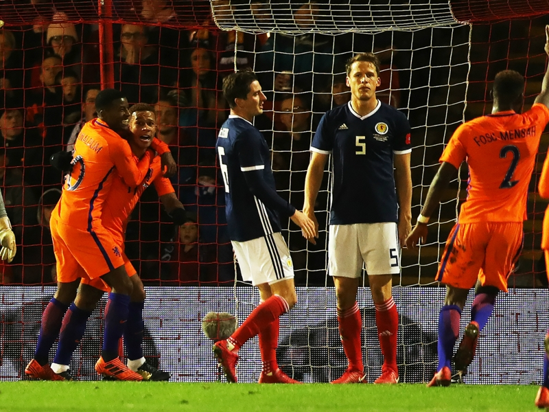 Scotland 0 Netherlands 1: Memphis the difference in Aberdeen