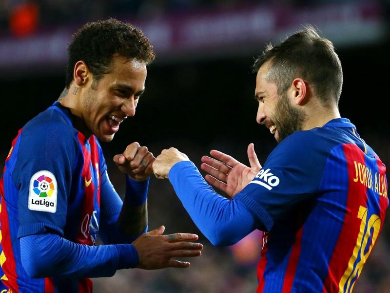 Alba: I enjoy playing for Barcelona more now that Neymar has left