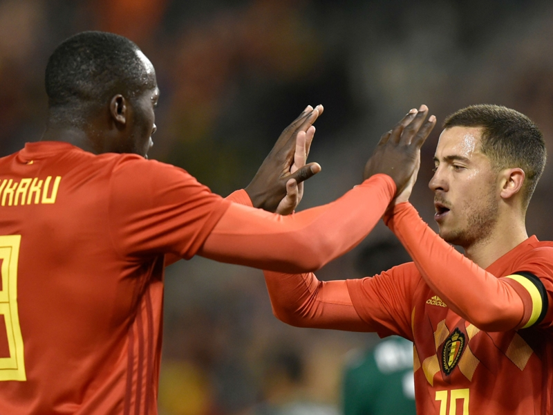 Lukaku equals Belgium scoring record with Mexico double