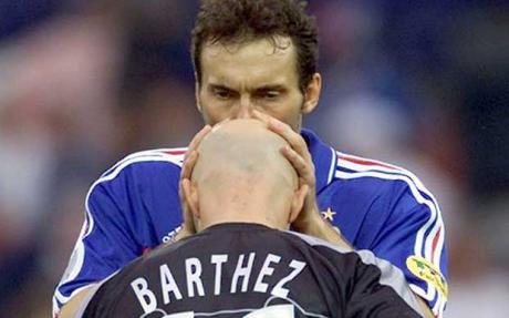 Resultado de imagen para Laurent Blanc y barthez